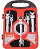 Ráčnové klíče s kloubem sada 7ks 8-19mm